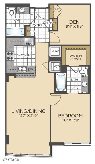 Bed/2 Bath Den - B05-C