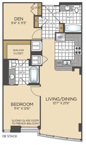 Bed/2 Bath Den - B05--B