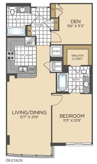 Bed/2 Bath Den - B05-D